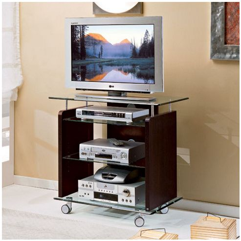 Triskom Glass TV Stand for LCD / Plasmas - Wenge