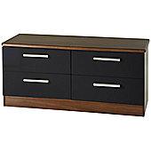 Welcome Furniture Knightsbridge 4 Drawer Chest - Black - Cream