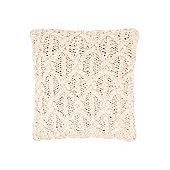 Linea Cable Knit Cushion, Cream