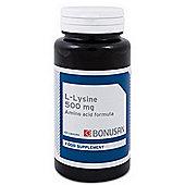 Bonusan L-Lysine 500 Mg Plus 60 Tablets