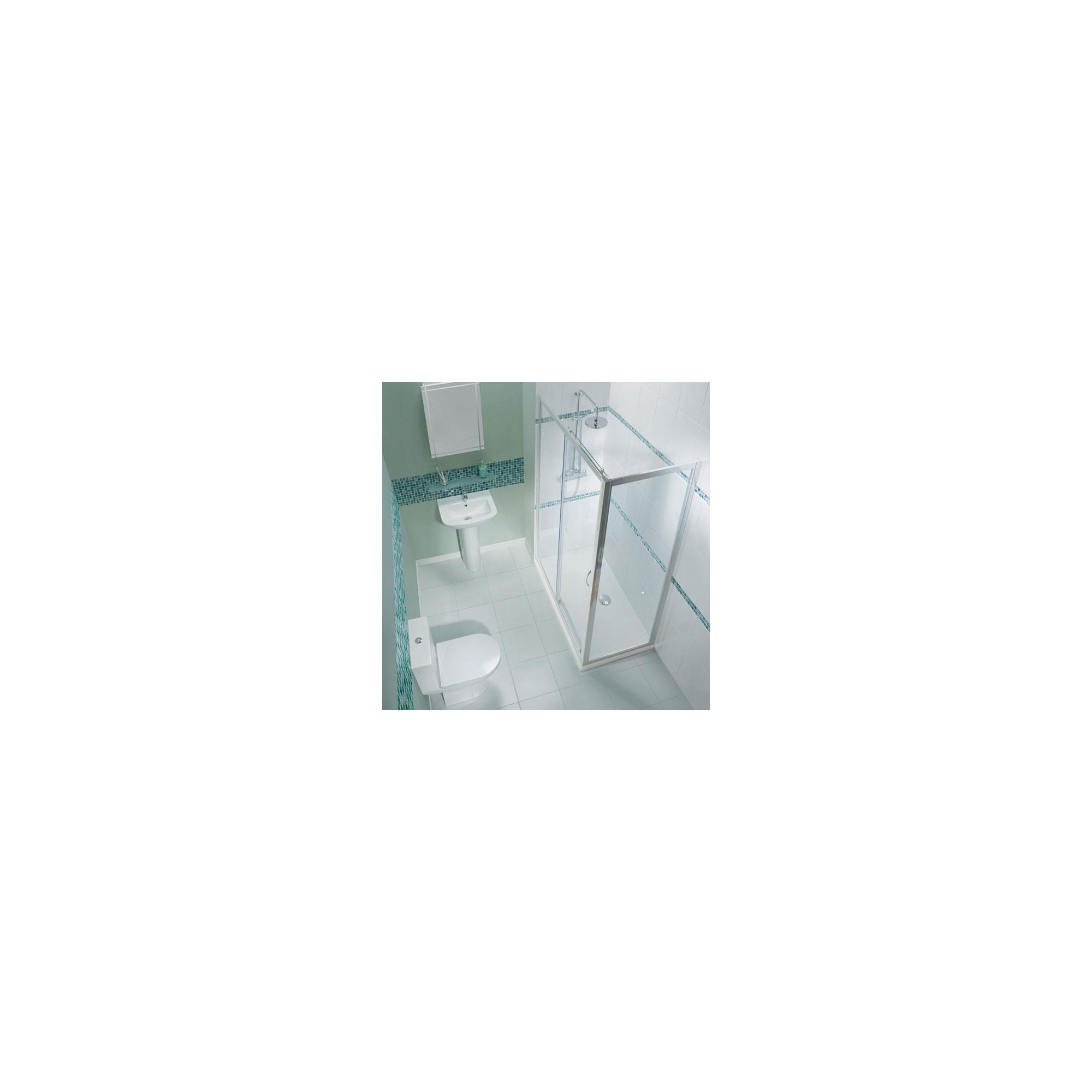 Balterley Framed Sliding Shower Door, 1600mm Wide, 6mm Glass at Tesco Direct