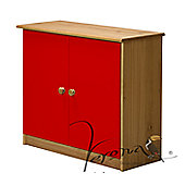 Verona Ribera Cupboard - Antique / Red