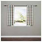 Galloway Check Lined Eyelet Curtains - Duck egg