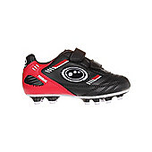 Optimum Tribal Velcro Moulded Kids Football Boot Black - Black