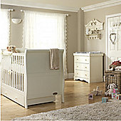 Mee-go Sleep 3 Piece Nursery Room Set - White (Ivory)
