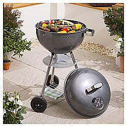Tesco 46cm Kettle Charcoal BBQ, Grey