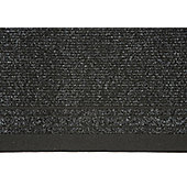 Dandy Dandy Black Contemporary Runner Rug - 183cm x 66cm