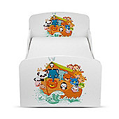 PriceRightHome Noah's Ark Animals Toddler Bed & Foam Mattress