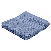 Tesco Hygro 100% Cotton Face Cloth, Soft Blue