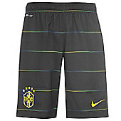 2014-15 Brazil Nike Third Shorts (Black) - Kids - Black