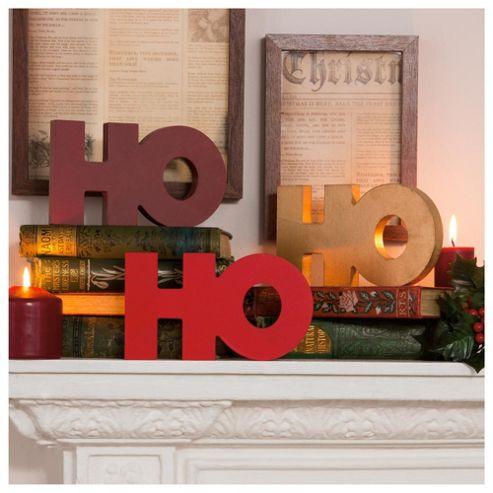 Tesco Ho Ho Ho Christmas Ornament