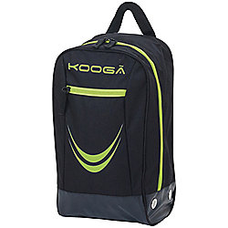 Kooga Rugby Essentials Boot Bag Black / Lime 20 x 37 x 18cm