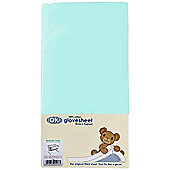 DK GloveSheet Chicco Next 2 Me/ Lullago Mattress Sheet - Aqua/Turquoise