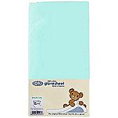 DK GloveSheet Chicco Next 2 Me/ Lullago Mattress Sheet - Aqua/Turquoise