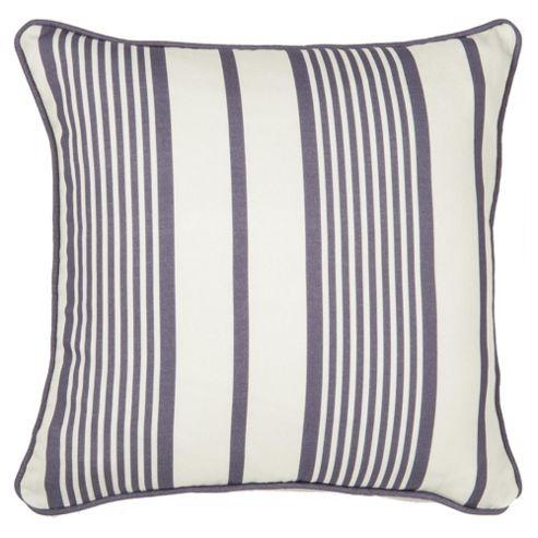 Ticking Stripe Cushion 43X43Cm Navy
