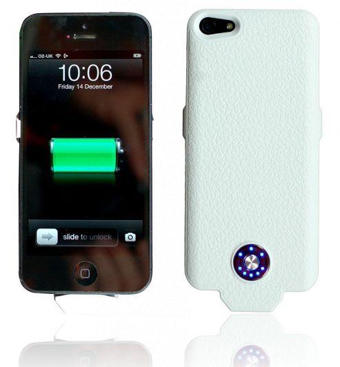 Power PeP Battery Shell (White) - 2500 Mah - Apple iPhone 5