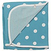 Pigeon Organics Reversible Blanket, Spotty (Blue)