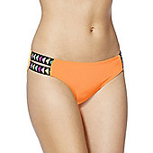 F&F Triangle Elastic Strap Bikini Briefs - Neon orange
