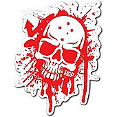 Madd Gear MGP Red & White Skull Sticker