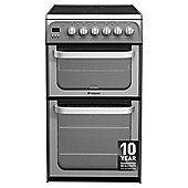 Hotpoint Ultima Electric Cooker, HUE52GS, Graphite