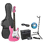 Encore E375 Pink Kids 3/4 Size Electric Guitar Pack