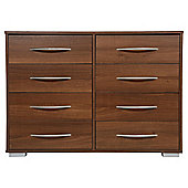 Newport 8 Drawer Chest Walnut