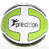 Precision Santos Training Ball White/Lime Green/Black Size 3