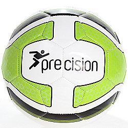 Precision Santos Training Ball White/Lime Green/Black Size 3