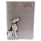 Croft Dog Laminate 2015 Diary A6 Week To View
