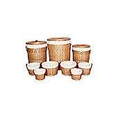 Wicker Valley Round Laundry and Storage Basket (Set of 9)