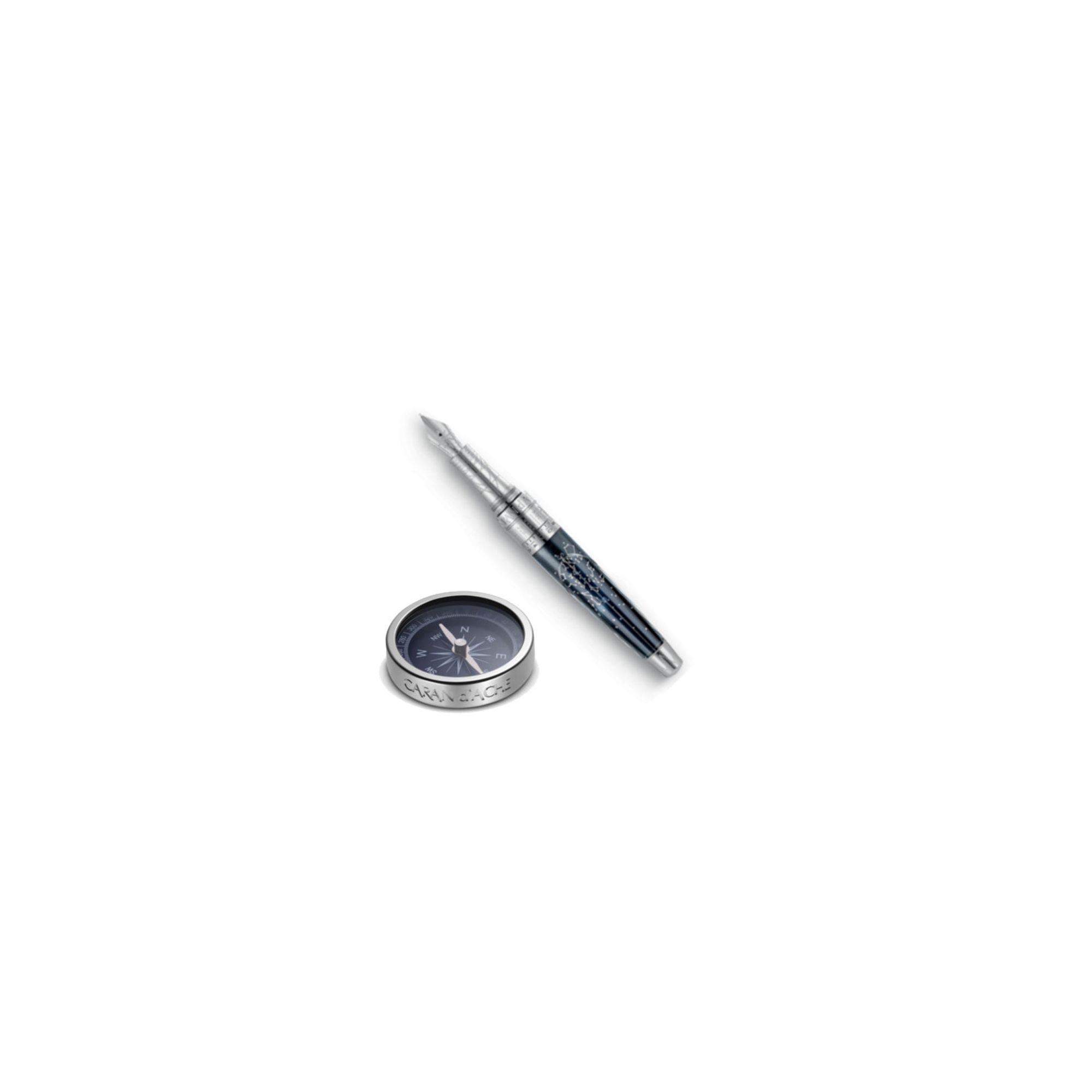 Caran d'Ache Caelograph Fountain Pen - Alpha Platinum Edition 45 N at Tesco Direct