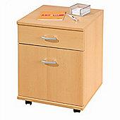 Bedside Cabinet / Office Storage- Beech