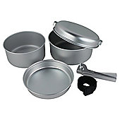 Yellowstone Aluminium 5 Piece Camping Cook Set