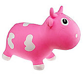 Bella Inflatable Cow Space Hopper - Pink & White