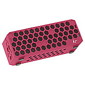 Kitsound Hive Bluetooth Speaker Pink