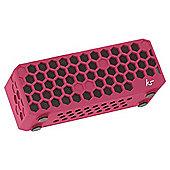 Kitsound Hive Bluetooth Speaker Pink