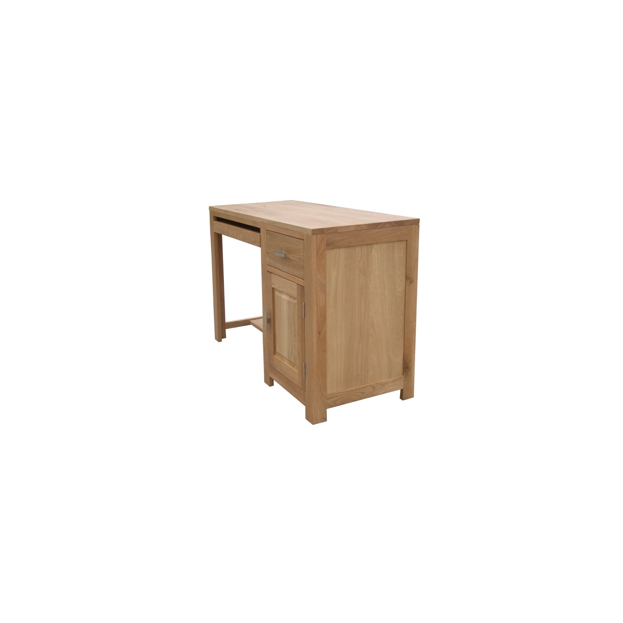 Home Zone Furniture Churchill Oak 2010 Small Computer / Writing Desk in Natural Oak at Tesco Direct