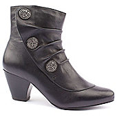 Lotus Ladies Forest Black Ankle Boots