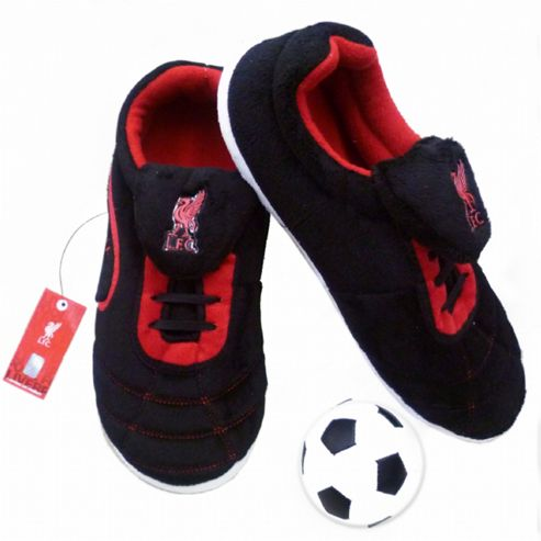 Mens Liverpool FC Football Boot Slippers with Ball (Size 11-12)
