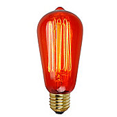 Squirrel Cage Bulb ES Cap 60w RED