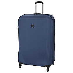 IT Luggage Frameless 4-Wheel Suitcase, Poseidon Purple Large