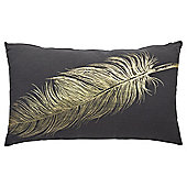 Gold Feather Cushion