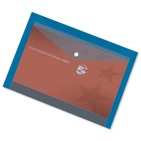 5 Star Envelope Wallet Polypropylene [Pack 5]