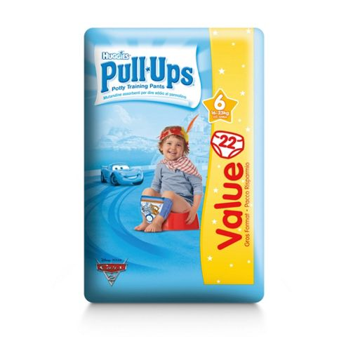 Huggies Pull Ups Size 6 Boy Econ Pack 22