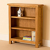 Lanner Low Bookcase - Rustic Oak