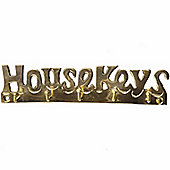 Hill Interiors House Keys Coat Hooks - Brass