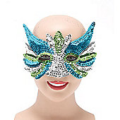 Sequin Eye Mask Silver Mix