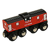 Bigjigs Wooden Railway CN Caboose Train