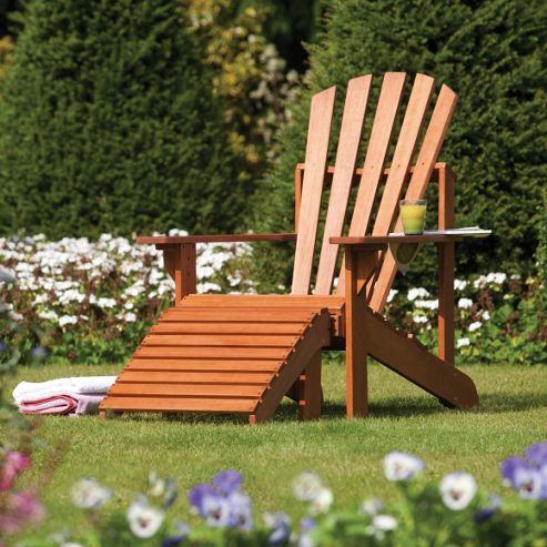 Rowlinson Adiron Wooden Garden Deck Chair