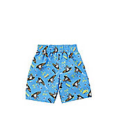 Zoggs Surfer Penguin Swim Shorts - Blue